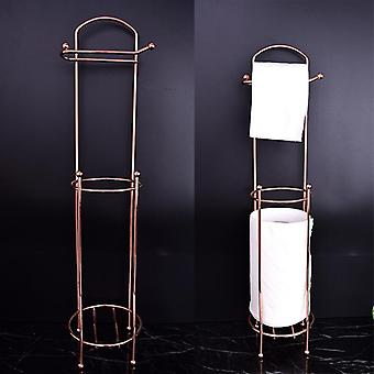 Restaurant Light Luxury Roll Stand, Vertical Type Toilet Paper Towel Storage