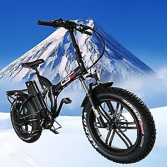 Fat Tire Electric Bicycle, Snow Mountain Folding E-bike, Lithium Battery