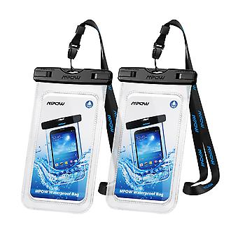 Mpow waterproof phone case, ipx8 waterproof phone pouch dry bag with portable lanyard compatible wit