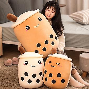 Ihana maito teetä täytetty muhkea tyyny tyyny hauska sarjakuva Boba Pehmolelut Lapset Lelut Syntymäpäivä Ystävänpäivä Lahja
