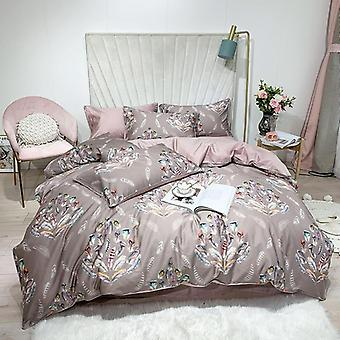 Hd gedruckt Premium ägyptische Baumwolle, seidig, weiche Bettbezug-Set 8