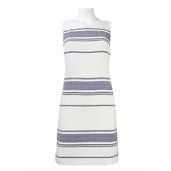 Papell Day Sleeveless Stripe Patroon Zip Back Katoen Blend