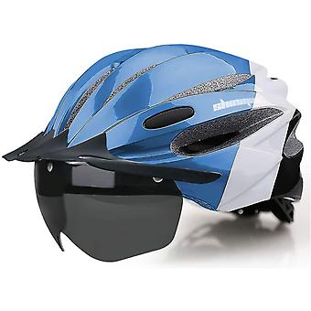 Shinmax Bike Helmet With LED Light Cycling Helmet with Rechargeable USB Light