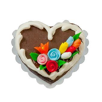 Dolls House koristeltu sydänkakku Doily Miniature Shop -ruokasalin lisävarusteessa