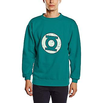 Green Lantern Unisex Adults Distressed Logo Crewneck Sweatshirt