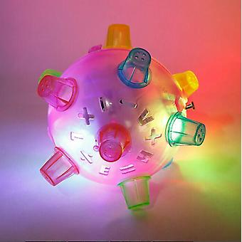 Led Jumping Ball Vibrating Color For Pet Dog Toys