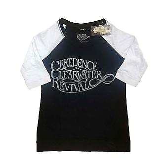 Creedence Clearwater Revival T Shirt Vintage Logo Official Raglan Womens