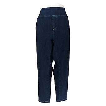 Belle By Kim Gravel Women's Petite Jeans Pull On Knit Blue A284898