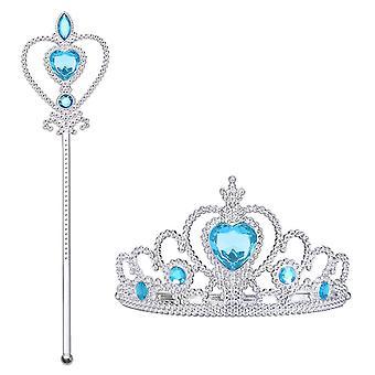 Vicloon ice princess elsa accessories set - tiara crown and magic wand,girls party cosplay dress cos