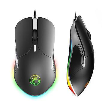 X6 Wysoka konfiguracja USB przewodowa mysz do gier gra komputerowa dla laptopa pc gry