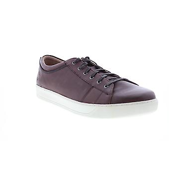 Andrew Marc Darwood  Mens Brown Leather Lifestyle Sneakers Shoes