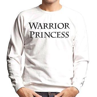 Xena Warrior Princess Text Men's Sweatshirt