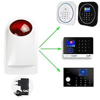 Sirène stroboscopique sans fil, alarme lumineuse et système Gsm Wifi pour- G4 / W123 / G50 /