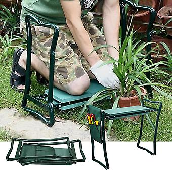 Folding Garden Chair Kneeler Seat, Stainless Steel Garden Stool