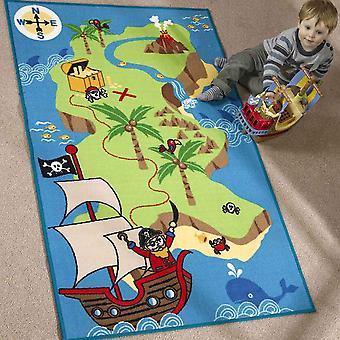 Macierz Kiddy pirat mapę dywan