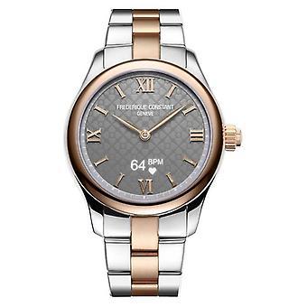 Frederique Constant Womens | Vitality | Smartwatch | Grey Dial | Two Tone FC-286BG3B2B Watch