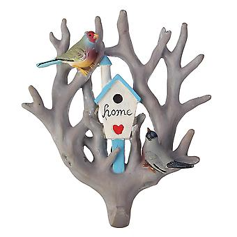 Lintu papukaija kotipuu saumaton seinä koukku ripustin koti koriste koriste