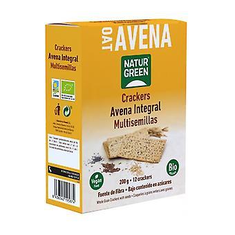 Organic Whole Grain Oats Crackers 200 g