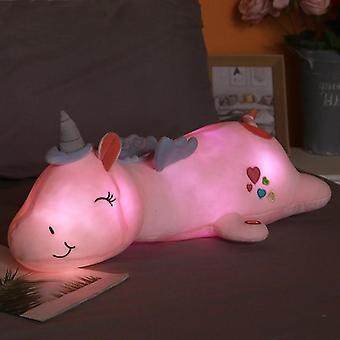 60cm Light Up Plush Pillow Led Unicorn
