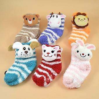 Baby Sock 6 Pair  Cartoon The Floor Socks Non-slip Towel Comfort Socks (6pair)