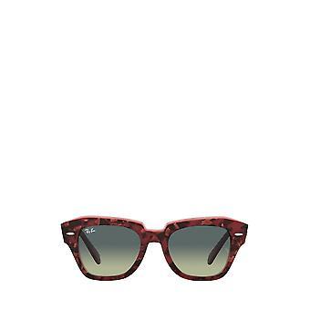 راي بان RB2186 هافانا على النظارات الشمسية للجنسين الأرجواني الشفاف