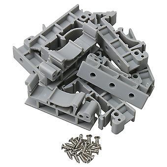 10 Pieces Gray PCB Rail Mounting Circuit Board Mounting Bracket DRG-01