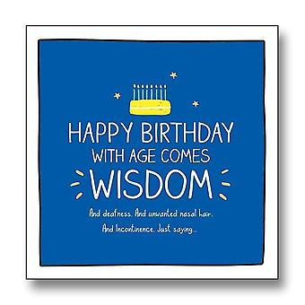 Pigment Happy Jackson - With Age Comes Wisdom Birthday Card Gf8057a