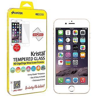 Amzer® Kristal™ Tempered Glass Hd Edge2edge Screen Protector - White