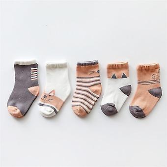 5pairs/lot Newborn Baby Cotton Socks