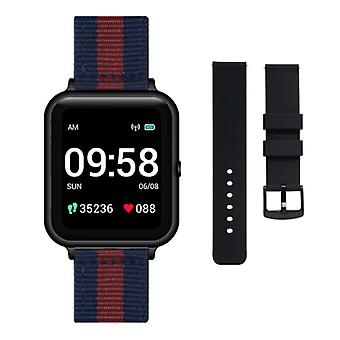 Lenovo S2 Smartwatch with Extra Strap - Fitness Sport Activity Tracker Silica Gel Watch Android Blue-Red