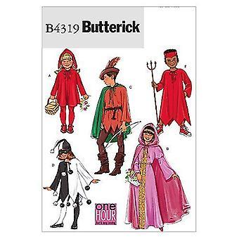 Butterick أنماط 4319 الفتيات الفتيات الكلاسيكية حرف الأزياء حجم S-XL
