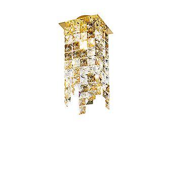 Designer Crystal Surface Mounted Spotlight Gepolijst Goud, 1x G9