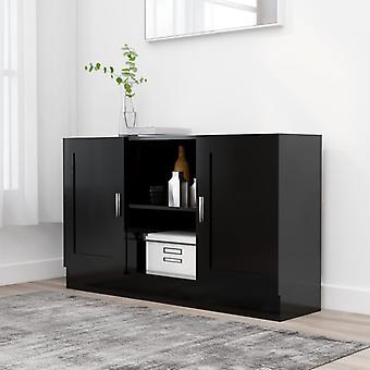 vidaXL buffet noir 120x30,5x70 cm panneau de particules