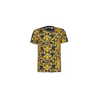 Versace Jeans Couture Jeans Couture Tryckt Marin/Guld T-shirt