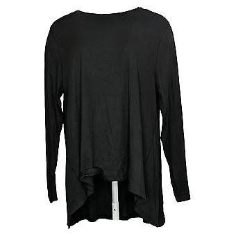 Anybody Women's Top Cozy Knit Rib Swing Black A384062