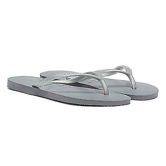 Havaianas naisten Steel Gray Slim Flip floppeja
