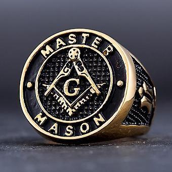 Master mason gold color ring