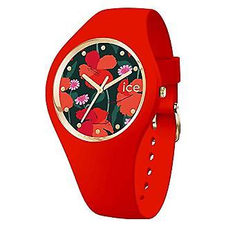 Ice-Watch ICE Flower Passion, ساعة نسائية حمراء مع حزام السيليكون، 017577، متوسط (40 ملم)