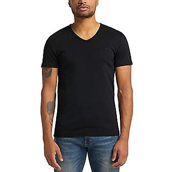 Mustang Aaron V Grundläggande T-Shirt, Svart, S Män