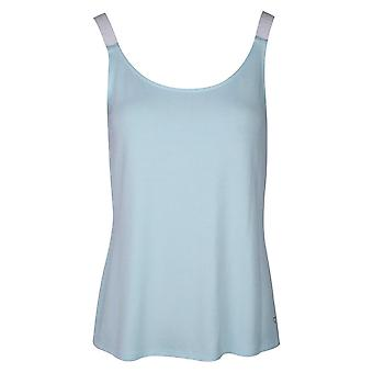 Just White Mint Green Sleeveless Cotton Cami Top With Elasticated Straps