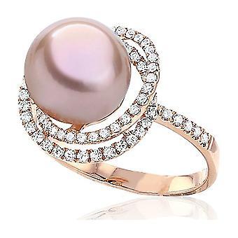 Luna-Pearls - Ring - Pearl Ring Brilliant - Rose Gold - 005.1018 Gr 56 (17.8mm)