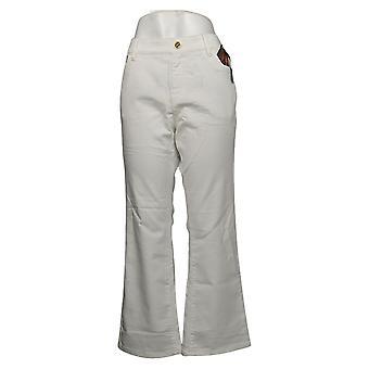 IMAN Global Chic Mujer Petite Jeans Denim Bootcut Blanco 734928100
