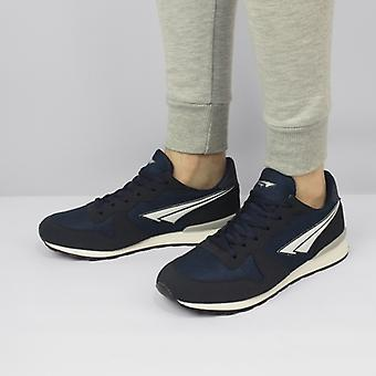Shumo Retro Mens Casual Lace-up Trainers Navy