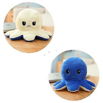Omkeerbaar octopus gevuld speelgoed (wit)