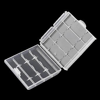 White Plastic Hard Plastic Case Cover Holder For Aa / Aaa Battery Storage Box
