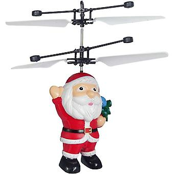 Noël Flying Ball Jouet Santa Claus Helicopter Led Light ,santa Claus Electric Infrared Suspension Smart Sensor Flying Toy