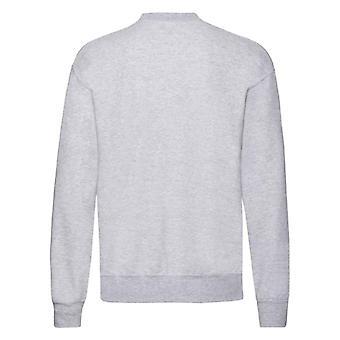 Fruit of the Loom Mens Classic Heather Drop Shoulder Sweatshirt
