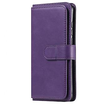 Huawei Y6p Case Pu Leather Wallet Flip Cover Stand + 10 Card Slot Luxury Phone Bags For Huawei Y6p Case Cover