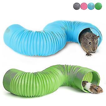 Pet Fun Tunnel Telescopic Pipe Ferret Supplies Hamster Toys(Gray)
