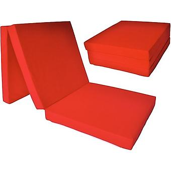 Materasso per bambini - rosso - materasso da campeggio - materasso da viaggio - materasso pieghevole - 120 x 60 x 6